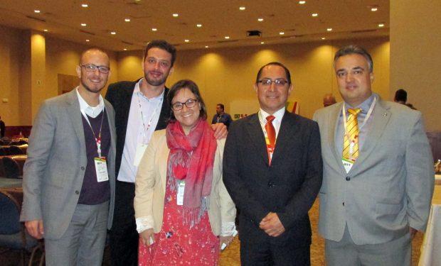 Alberto Inocente, Gerente General de Andina Holding acompañado con miembros de Apex-Brasil