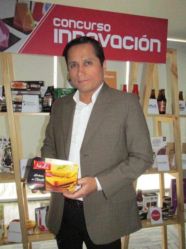 Jaime Castillo Gerente Comercial de R.A:M Industries ( Nadú) , presentado Delicia de Choclo, el producto semifinalista en el Concurso de Innovación Expoalimentaria 2016